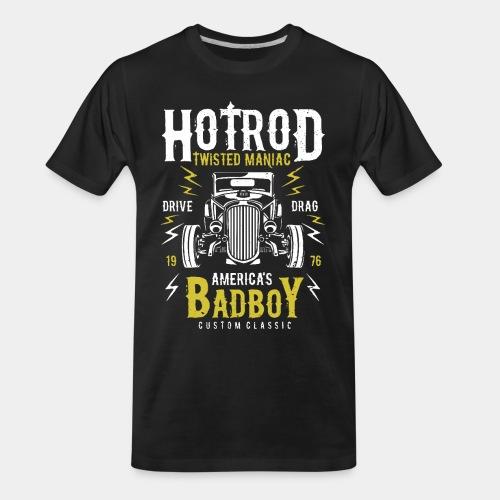 hotrod classic vintage car bad boy - Men's Premium Organic T-Shirt