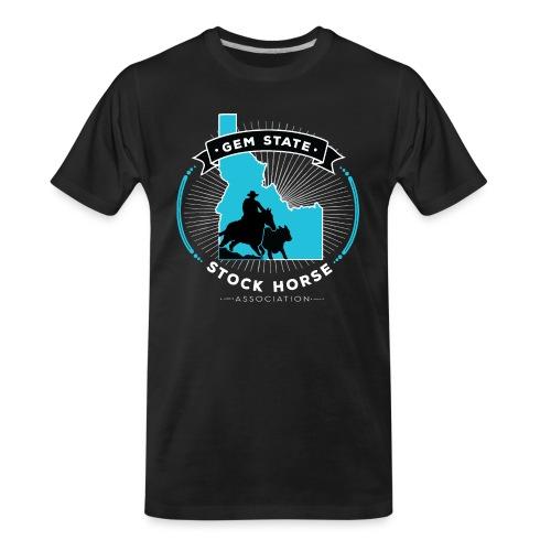 Turquose Sunburst Logo - Men's Premium Organic T-Shirt