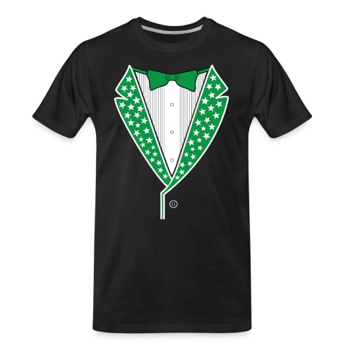 Star Tuxedo in Green PNG - Men's Premium Organic T-Shirt