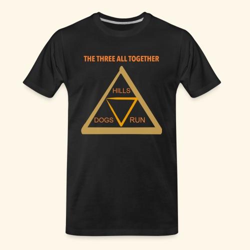 Run4Dogs Triangle - Men's Premium Organic T-Shirt