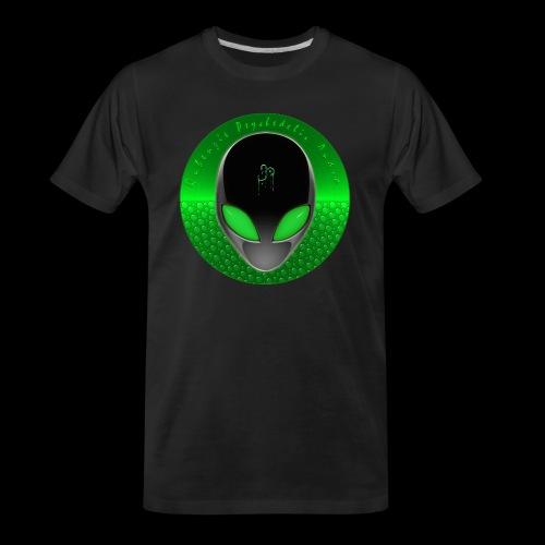 Psychedelic Alien Dolphin Green Cetacean Inspired - Men's Premium Organic T-Shirt