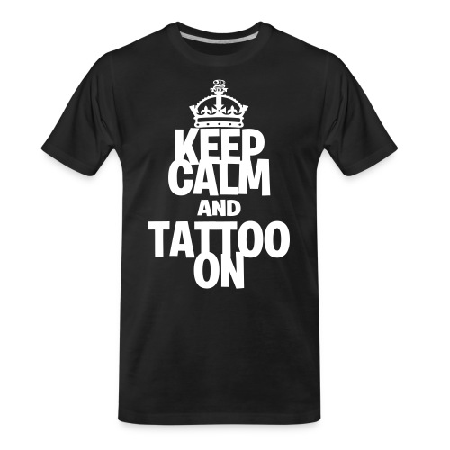 Keep Calm and Tattoo On vector - Men's Premium Organic T-Shirt