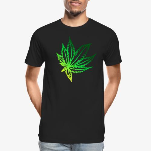 green leaf - Men's Premium Organic T-Shirt