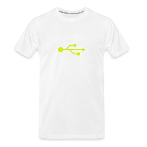 Yellow USB Logo Mid - Men's Premium Organic T-Shirt