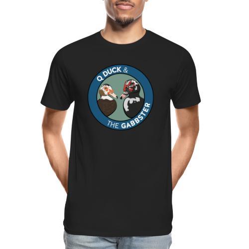 Q Duck & The Gabbster Logo - Men's Premium Organic T-Shirt