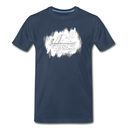 Listen to Classic Rock - Men's Premium Organic T-Shirt