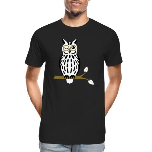 Winky Owl - Men's Premium Organic T-Shirt