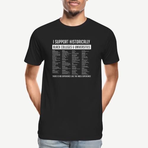 Support HBCUs List - Men's Premium Organic T-Shirt