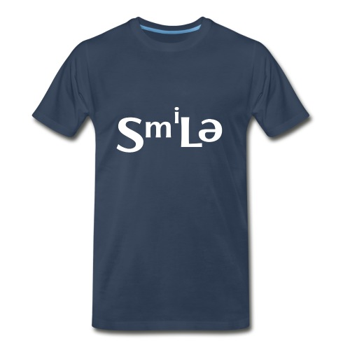 Smile Abstract Design - Men's Premium Organic T-Shirt