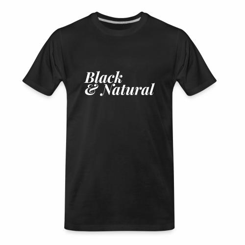 Black & Natural Women's - Men's Premium Organic T-Shirt