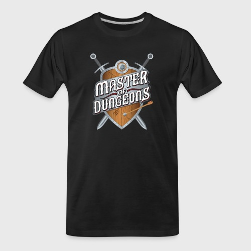 master of dungeons shield and swords fantasy gift - Men's Premium Organic T-Shirt