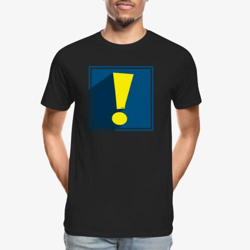 Whee Shadow Exclamation Point - Men's Premium Organic T-Shirt