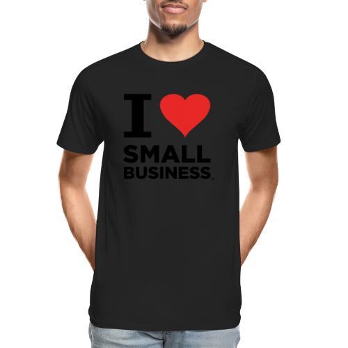 I Heart Small Business (Black & Red) - Men's Premium Organic T-Shirt