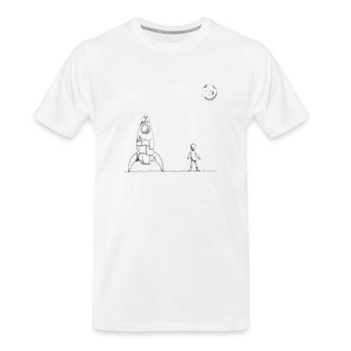 rocket to the moon - Men's Premium Organic T-Shirt