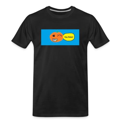 peachy smile - Men's Premium Organic T-Shirt