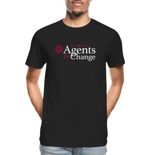 pascoagentsforchange logo - Men's Premium Organic T-Shirt