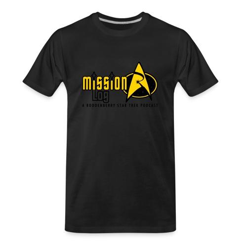 Logo Wide 2 Color Black Text - Men's Premium Organic T-Shirt