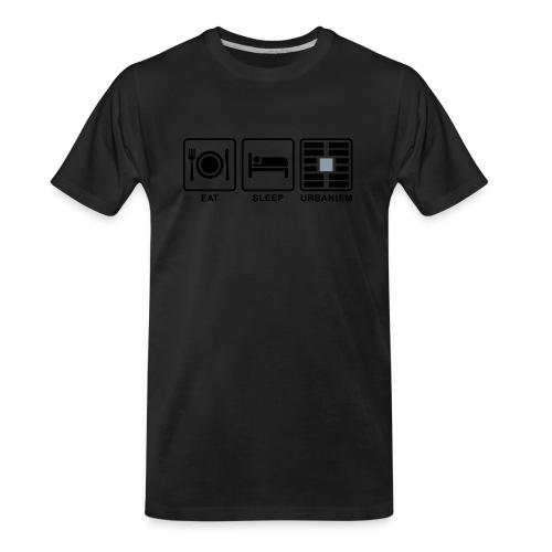 Eat Sleep Urb big fork-LG - Men's Premium Organic T-Shirt