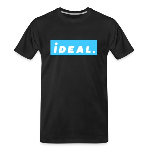 rare ideal blue logo - Men's Premium Organic T-Shirt