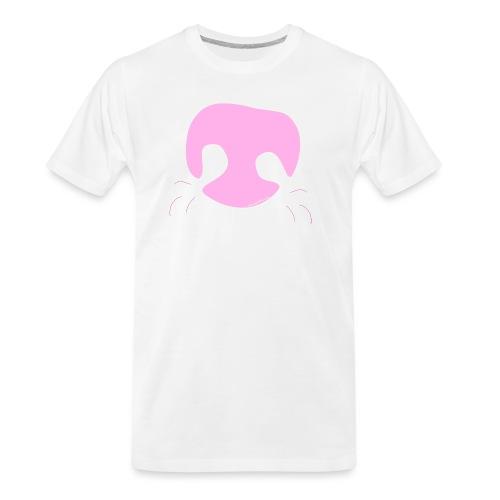 Pink Whimsical Dog Nose - Men's Premium Organic T-Shirt