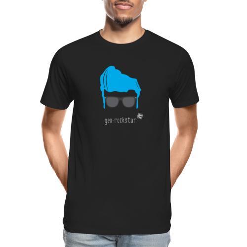 Geo Rockstar (him) - Men's Premium Organic T-Shirt