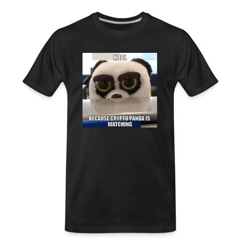 Crypto Panda Is Watching - Men's Premium Organic T-Shirt