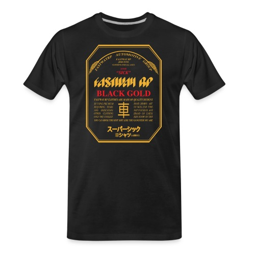 Fastway Beer Can Black Gold - Men's Premium Organic T-Shirt