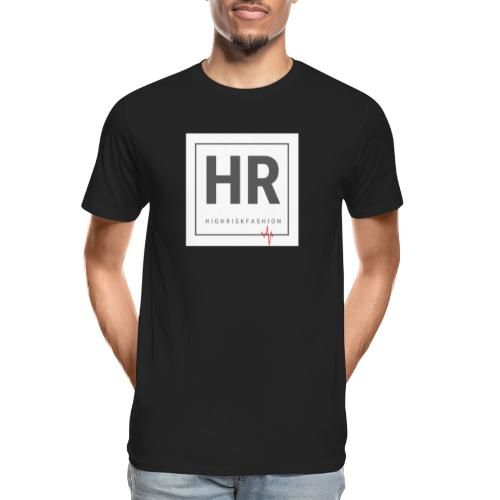 HR - HighRiskFashion Logo Shirt - Men's Premium Organic T-Shirt