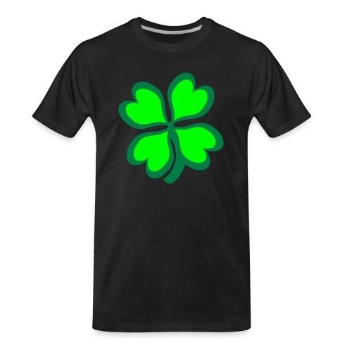 4 leaf clover - Men's Premium Organic T-Shirt