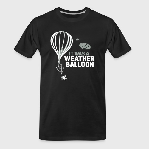 Weather Balloon UFO - Men's Premium Organic T-Shirt