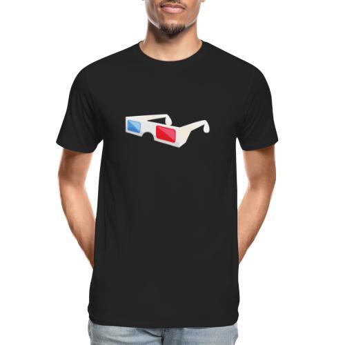 3D glasses - Men's Premium Organic T-Shirt