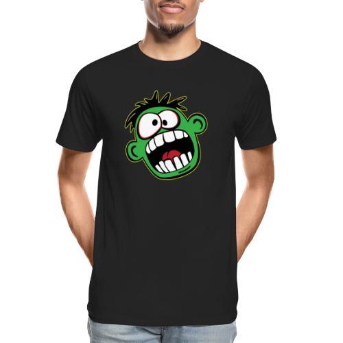 Funny Face Cartoon - Men's Premium Organic T-Shirt