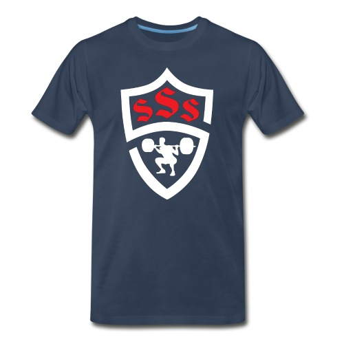 Logo Only White and Red - Men's Premium Organic T-Shirt