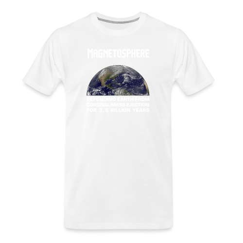 Magnetosphere Defending from Coronal Mass Ejection - Men's Premium Organic T-Shirt