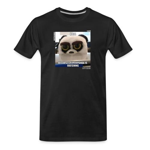 Crypto Panda Is Watching (Crypto Series) - Men's Premium Organic T-Shirt
