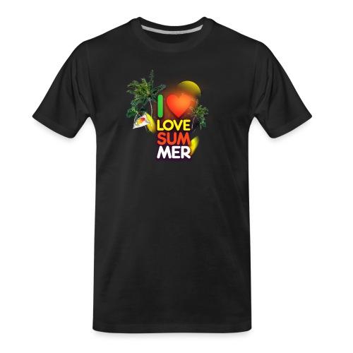 I love summer - Men's Premium Organic T-Shirt