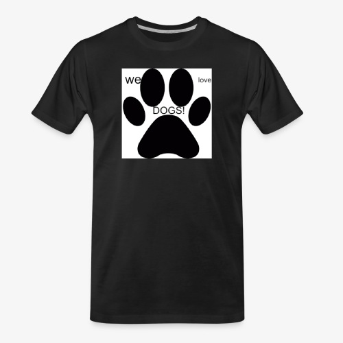 WE LOVE DOGS!!!!!!! - Men's Premium Organic T-Shirt