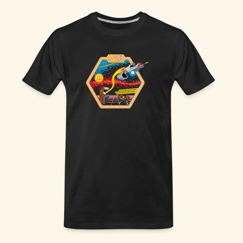 LaserBlast (for darkshirts) - Men's Premium Organic T-Shirt