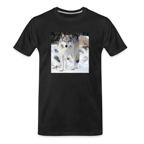 Canis lupus occidentalis - Men's Premium Organic T-Shirt