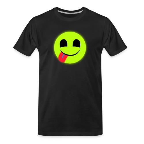 Glowing Emoticon - Men's Premium Organic T-Shirt