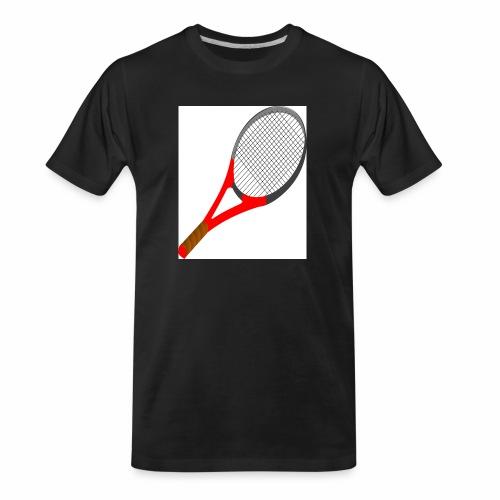Sport Racket/Tennis Game/Tennis Court/Tennis Bat - Men's Premium Organic T-Shirt