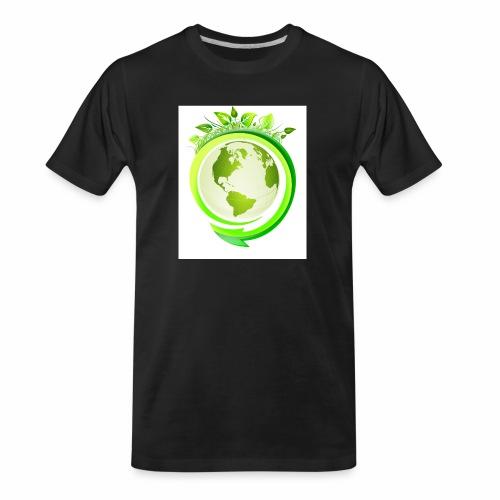Earth Globe : World Ecology/Earth Day/Green World - Men's Premium Organic T-Shirt