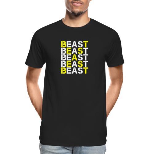 All Beast Bold distressed logo - Men's Premium Organic T-Shirt