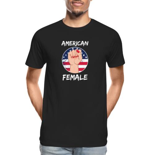 THE AMERICAN FEMALE - Men's Premium Organic T-Shirt