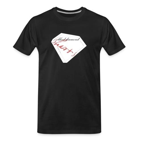 Blood Diamond -white logo - Men's Premium Organic T-Shirt