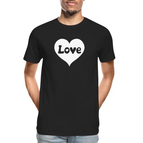 Love Heart - Men's Premium Organic T-Shirt