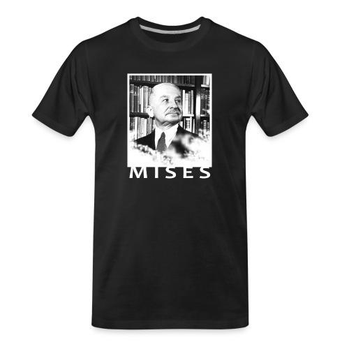 Ludwig von Mises Libertarian Design - Men's Premium Organic T-Shirt