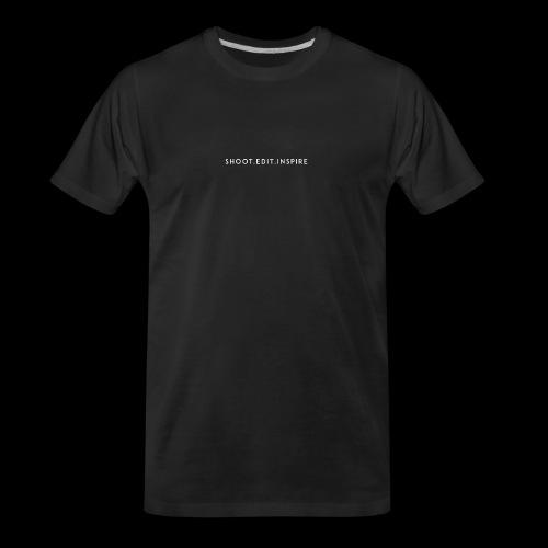 shoot edit inspire large - Men's Premium Organic T-Shirt