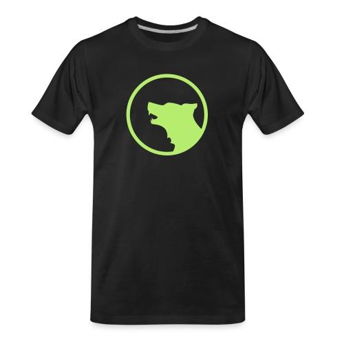 Wolf Silhouette Vector - Men's Premium Organic T-Shirt