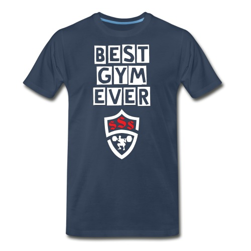 Best Gym Ever White and Red - Men's Premium Organic T-Shirt